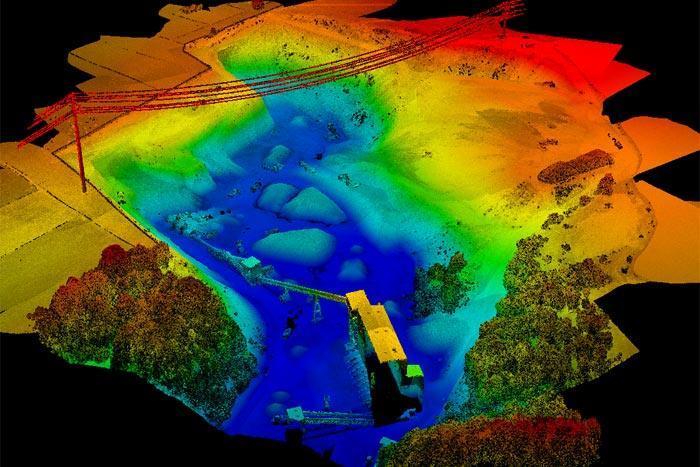 Лазерное сканирование с дрона